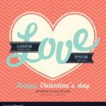 Valentines Day Invitation Card Template Love Word Inside Valentine Card Template Word