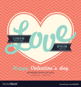 Valentines Day Invitation Card Template Love Word Inside Valentine Card Template Word