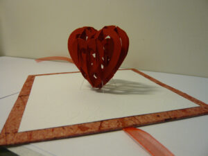 Valentine's Day Pop Up Card: 3D Heart Tutorial – Creative inside 3D Heart Pop Up Card Template Pdf