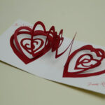 Valentine's Day Pop Up Card: Spiral Heart Tutorial For Heart Pop Up Card Template Free