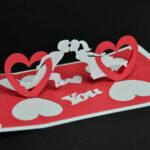 Valentine's Day Pop Up Card: Twisting Heart – Creative Pop Inside Twisting Hearts Pop Up Card Template