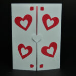 Valentine's Day Pop Up Card: Twisting Heart | Valentines Inside Twisting Hearts Pop Up Card Template