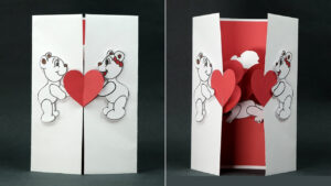 Valentine's Day Pop-Up Templates – Do It Yourself Pop-Up throughout I Love You Pop Up Card Template
