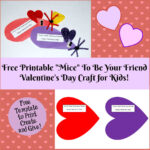 Valentine's Day Printable Card Crafts For Kids To Create With Regard To Valentine Card Template For Kids