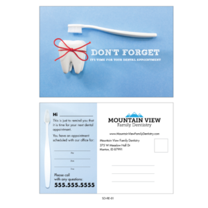 Variable Data Appointment Card Templates – Gargle with regard to Dentist Appointment Card Template