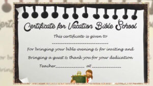 Vbs Certificate Template pertaining to Vbs Certificate Template