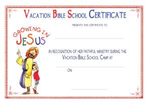 Vbs Certificate Templatesencephalos | Encephalos regarding Free Vbs Certificate Templates