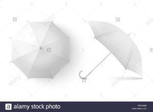 Vector 3D Realistic Render White Blank Umbrella Icon Set Regarding Blank Umbrella Template