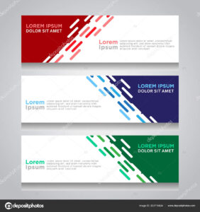 Vector Abstract Design Web Banner Template Web Design inside Website Banner Design Templates