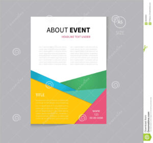 Vector Brochure Flyer Template Design A5 Size Stock Vector regarding Cleaning Brochure Templates Free