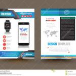 Vector Brochure Template Design For Technology Product intended for Technical Brochure Template