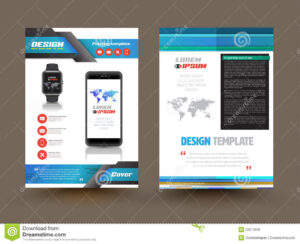 Vector Brochure Template Design For Technology Product intended for Technical Brochure Template