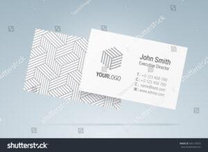 Vector Business Card Template Elegant Business Stock Vector within Generic Business Card Template