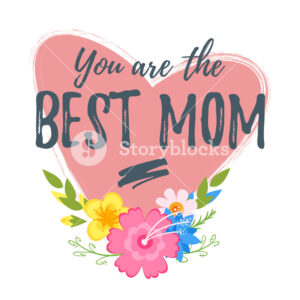Vector Cartoon Style Template For Mothers Day Greeting Card pertaining to Mom Birthday Card Template