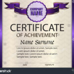 Vector Certificate Achievement Template Award Winner Stock Within Certificate Of Attainment Template