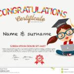 Vector Certificate For School Children Template. Stock Throughout Children's Certificate Template