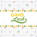 Vector Decorating Design Made Of Lucky Charms, And The Words.. For Good Luck Card Template