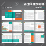Vector Empty Bifold Brochure Print Template Design Bifold With 12 Page Brochure Template