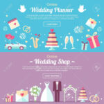 Vector Header And Banner Design Templates. For Online Wedding.. For Wedding Banner Design Templates