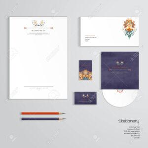 Vector Identity Templates. Letterhead, Envelope, Business Card,.. throughout Business Card Letterhead Envelope Template