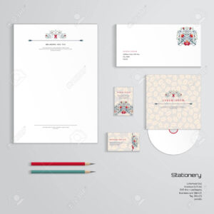 Vector Identity Templates. Letterhead, Envelope, Business Card,.. with Business Card Letterhead Envelope Template