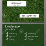 Vector Illustration Of Gardener Business Card Design Template.. Regarding Gardening Business Cards Templates