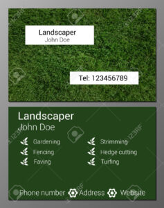 Vector Illustration Of Gardener Business Card Design Template.. regarding Gardening Business Cards Templates