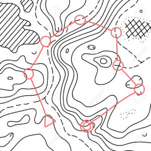 Vector Illustration Of Topographic Orienteering Map With With.. throughout Orienteering Control Card Template