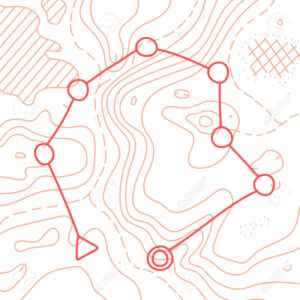 Vector Illustration Of Topographic Orienteering Map With With.. within Orienteering Control Card Template