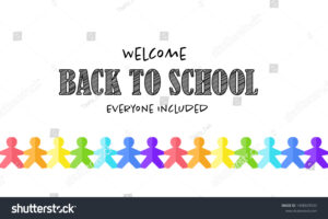 Vector School Banner Template Welcome Back Stock Vector with Welcome Banner Template