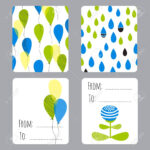 Vector Set Of Small Card Templates With Place For Text. For Greeting.. within Small Greeting Card Template