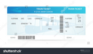Vector Train Ticket, Traveler Check … Stock Photo 137541182 within Blank Train Ticket Template