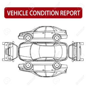 Vehicle Condition Report Car Checklist, Auto Damage Inspection in Car Damage Report Template