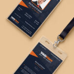 Vertical Company Identity Card Template Psd   Psd Print Intended For Company Id Card Design Template