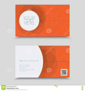 Vertor Visit Card Template Design. Stock Vector Inside Qr Code Business Card Template