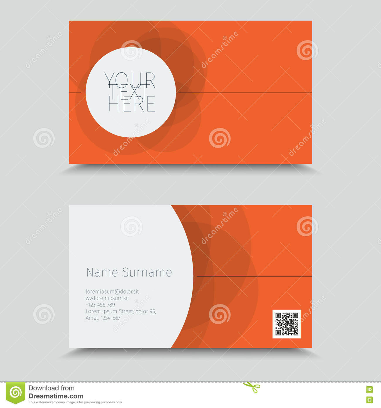 Vertor Visit Card Template Design. Stock Vector Inside Qr Code Business Card Template