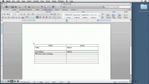 Video Script Writing Tutorial: Setting Up A Two-Column Script In Word |  Lynda inside Microsoft Word Screenplay Template