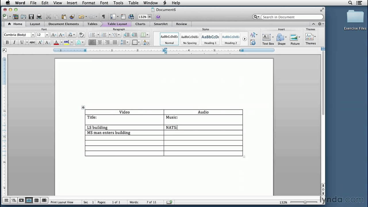 Video Script Writing Tutorial: Setting Up A Two Column Script In Word |  Lynda With 3 Column Word Template