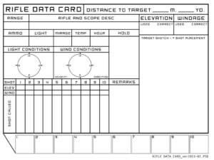 View Source Image | Target | Rifle Targets, Shooting Targets in Dope Card Template