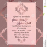 Vintage Baroque Style Wedding Invitation Card Template With Regard To Church Wedding Invitation Card Template