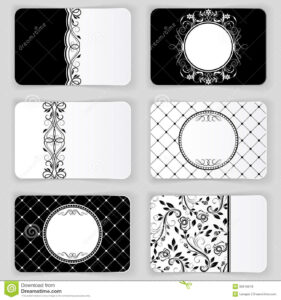 Vintage Business Cards Stock Vector. Illustration Of within Black And White Business Cards Templates Free