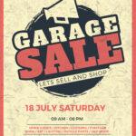 Vintage Garage Sale Flyer Template With Garage Sale Flyer Template Word