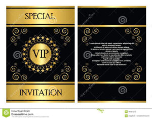 Vip Invitation Card Template Stock Vector – Illustration Of within Event Invitation Card Template