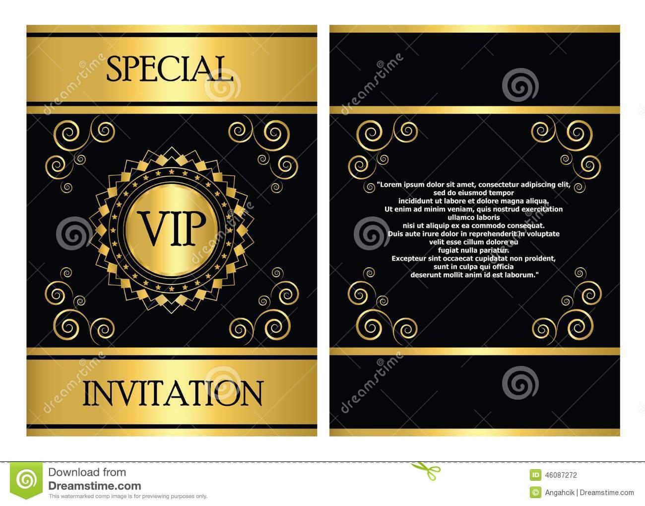 Vip Invitation Card Template Stock Vector – Illustration Of Within Event Invitation Card Template