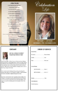 Virgin Mary Funeral Program | Funerals | Memorial Service in Free Obituary Template For Microsoft Word