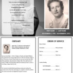 Virgin Mary Memorial Program | Funeral | Memorial Service intended for Memorial Brochure Template