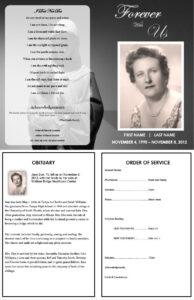 Virgin Mary Memorial Program | Funeral | Memorial Service Intended For Memorial Brochure Template
