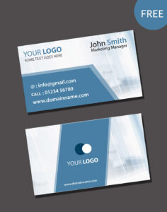 Visiting Card Psd Template Free Download within Visiting Card Templates Download