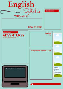 Visual Syllabus Template Made With Canva | Edtech Ela Ideas with Blank Syllabus Template