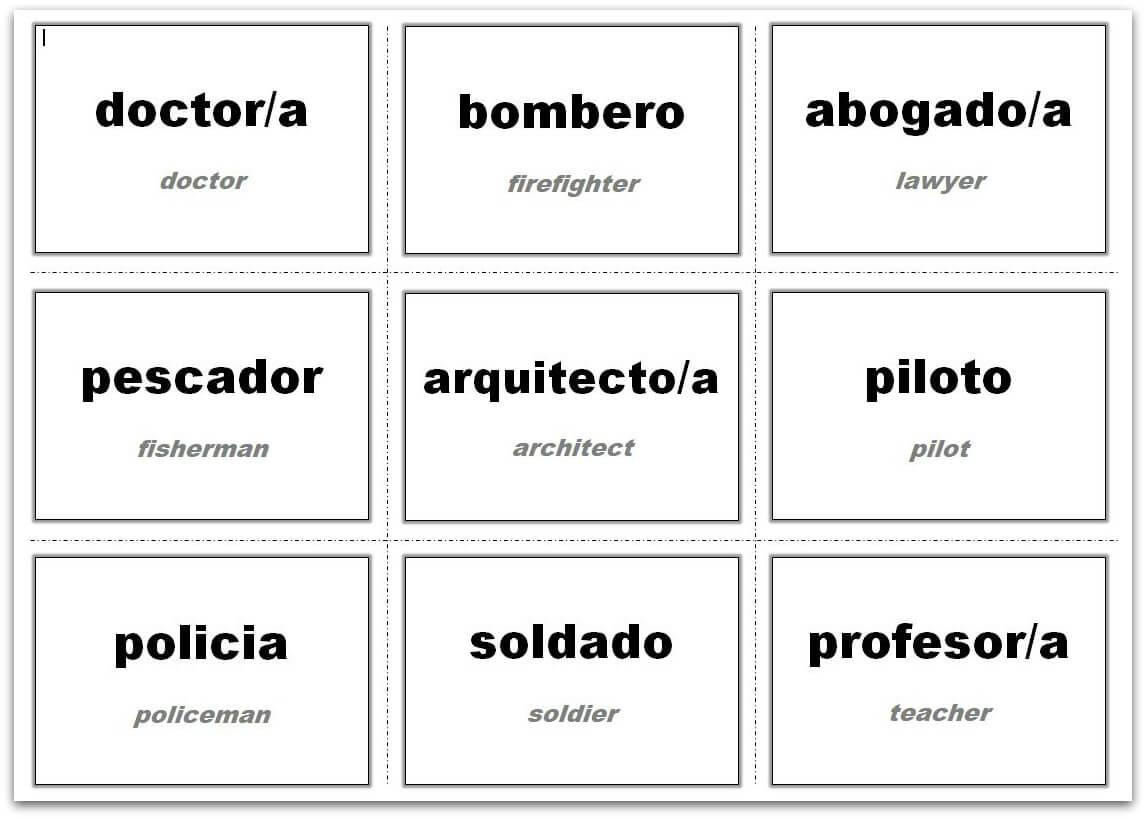 Vocabulary Flash Cards Using Ms Word Intended For Word Cue Card Template